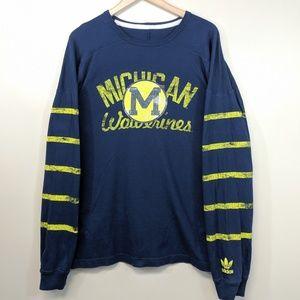 Vintage Adidas Michigan Wolverines Long Sleeve